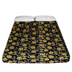 Roses pattern Fitted Sheet (California King Size)