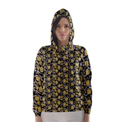 Roses pattern Hooded Wind Breaker (Women)