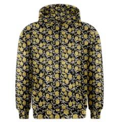 Roses pattern Men s Zipper Hoodie