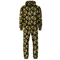 Roses pattern Hooded Jumpsuit (Men)