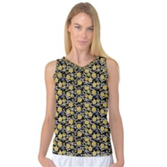 Roses pattern Women s Basketball Tank Top