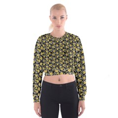 Roses pattern Cropped Sweatshirt