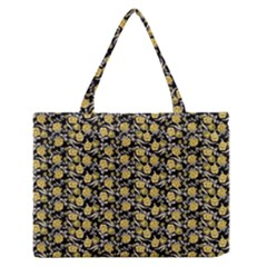 Roses pattern Medium Zipper Tote Bag