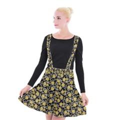 Roses pattern Suspender Skater Skirt