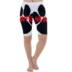 Newfie Name Paw Cropped Leggings
