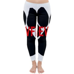 Newfie Name Paw Classic Winter Leggings