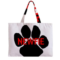 Newfie Name Paw Zipper Mini Tote Bag
