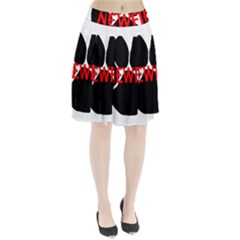 Newfie Name Paw Pleated Skirt