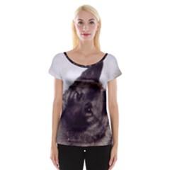 Norwegian Elkhound Women s Cap Sleeve Top