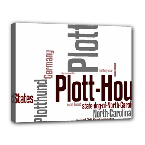 Plott Mashup Canvas 14  x 11