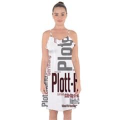 Plott Mashup Ruffle Detail Chiffon Dress