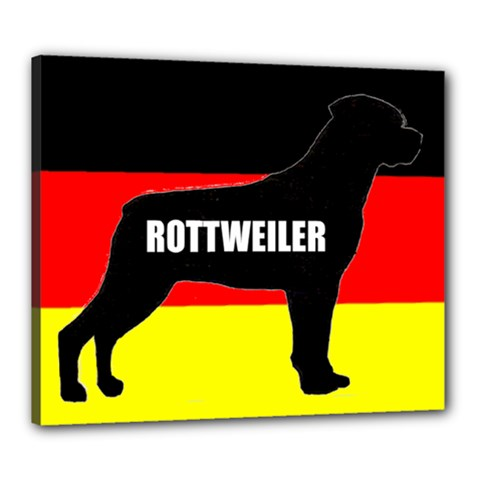 Rottweiler Name Silo On Flag Canvas 24  x 20