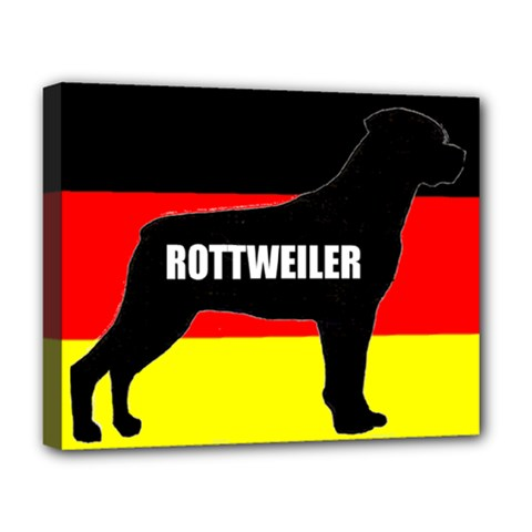 Rottweiler Name Silo On Flag Deluxe Canvas 20  x 16