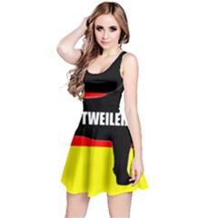 Rottweiler Name Silo On Flag Reversible Sleeveless Dress