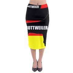 Rottweiler Name Silo On Flag Midi Pencil Skirt