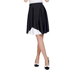 Spanish Water Dog Silhouette A-Line Skirt