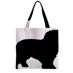 Spanish Water Dog Silhouette Zipper Grocery Tote Bag