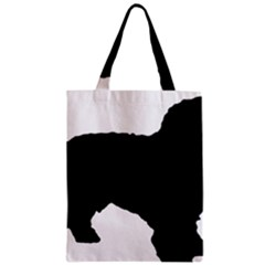 Spanish Water Dog Silhouette Zipper Classic Tote Bag