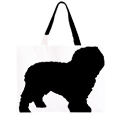 Spanish Water Dog Silhouette Large Tote Bag