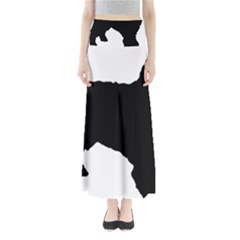 Spanish Water Dog Silhouette Maxi Skirts