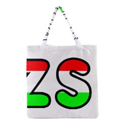 Hungary Flag In Vizsla Name Grocery Tote Bag