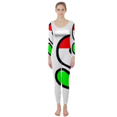 Hungary Flag In Vizsla Name Long Sleeve Catsuit
