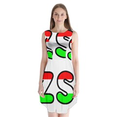 Hungary Flag In Vizsla Name Sleeveless Chiffon Dress
