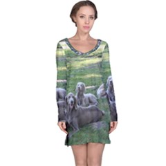 Longhair Weims Long Sleeve Nightdress