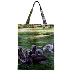 Longhair Weims Zipper Classic Tote Bag