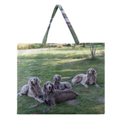 Longhair Weims Zipper Large Tote Bag