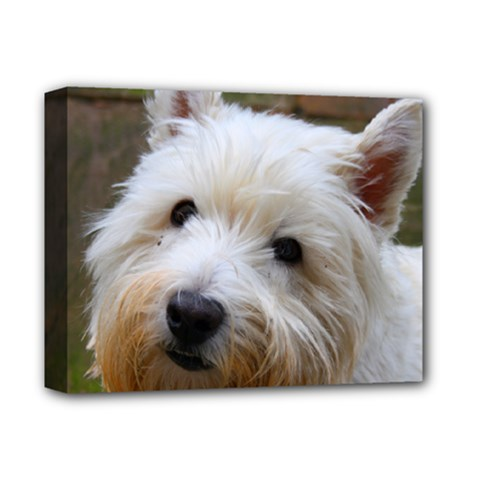 West Highland White Terrier Deluxe Canvas 14  x 11