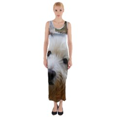 West Highland White Terrier Fitted Maxi Dress