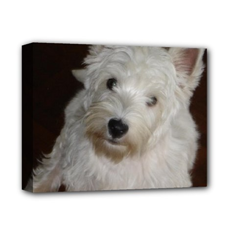 West highland white terrier puppy Deluxe Canvas 14  x 11