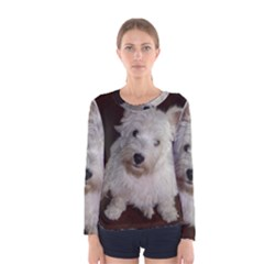 West highland white terrier puppy Women s Long Sleeve Tee