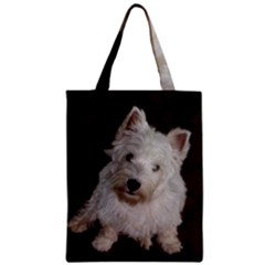 West highland white terrier puppy Zipper Classic Tote Bag