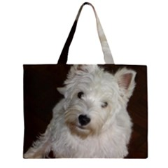 West highland white terrier puppy Large Tote Bag