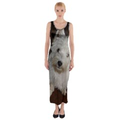 West highland white terrier puppy Fitted Maxi Dress