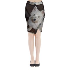 West highland white terrier puppy Midi Wrap Pencil Skirt