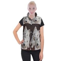 West highland white terrier puppy Women s Button Up Puffer Vest