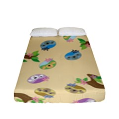 Sloth Tan Bg Fitted Sheet (Full/ Double Size)
