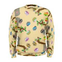 Sloth Tan Bg Men s Sweatshirt