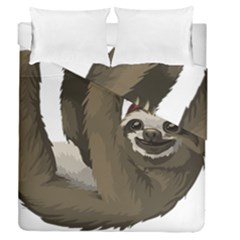 Sloth Hippie Duvet Cover Double Side (Queen Size)