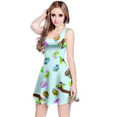 Sloth Blue Bg Reversible Sleeveless Dress