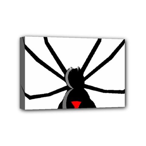 Black Widow cartoon Mini Canvas 6  x 4