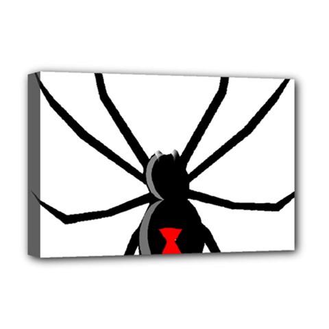 Black Widow cartoon Deluxe Canvas 18  x 12