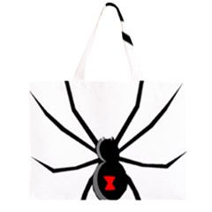 Black Widow cartoon Large Tote Bag