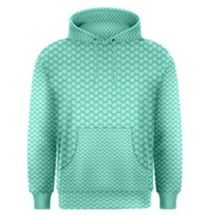 Tiffany Aqua Blue with White Lipstick Kisses Men s Pullover Hoodie