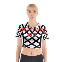 Nothing But Net Cotton Crop Top
