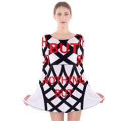 Nothing But Net Long Sleeve Velvet Skater Dress