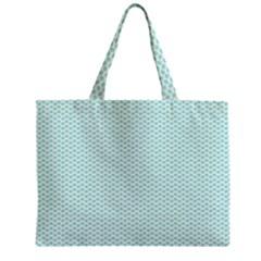 Tiffany Aqua Blue Lipstick Kisses on White Zipper Mini Tote Bag